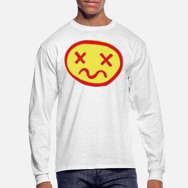 crazy crossed out face - Men's Longsleeve Shirt