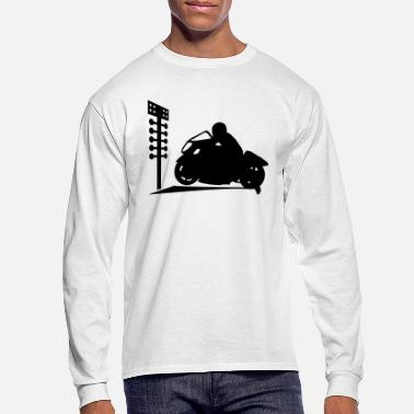 Motorcycle Drag Bike And Tree - Men's Longsleeve Shirt