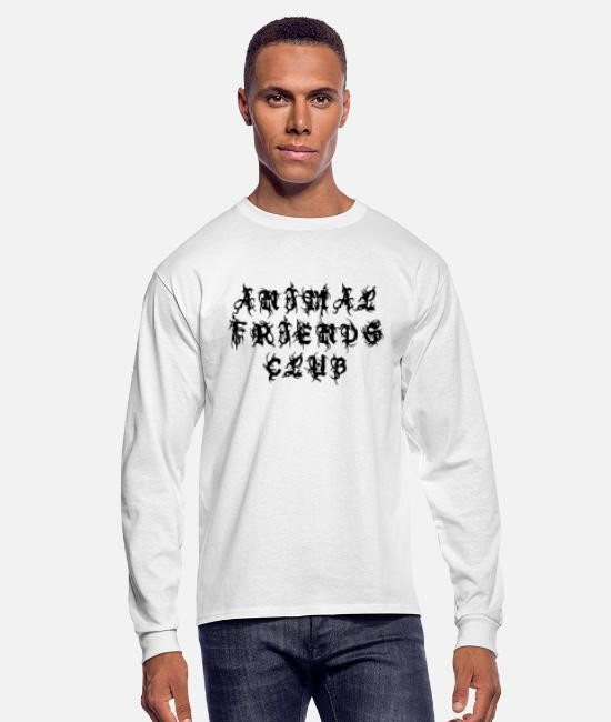 Animal World Long-Sleeved Shirts - Animal Friends Club - Sayings Statement Gift Ideas - Men's Longsleeve Shirt white