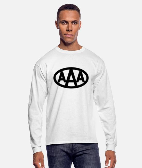 Aaa Long-Sleeved Shirts - AAA wdd logo - Men's Longsleeve Shirt white