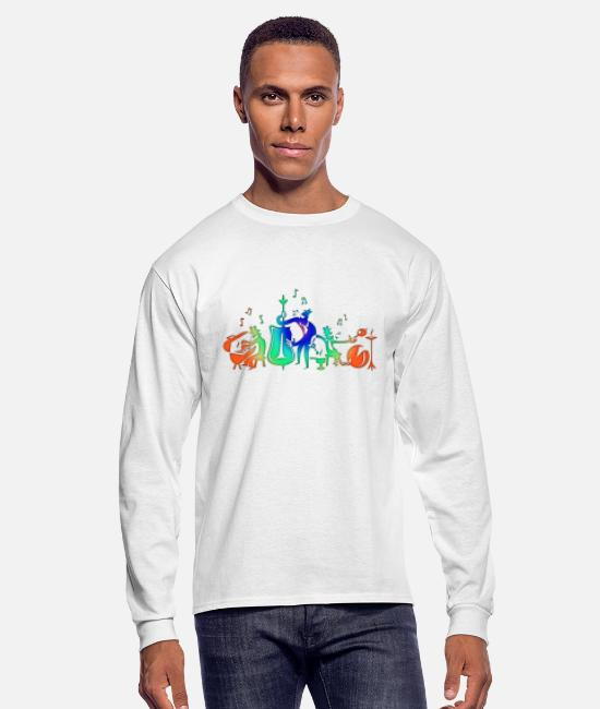 Art Long-Sleeved Shirts - Colorful Jazz Band - Men's Longsleeve Shirt white