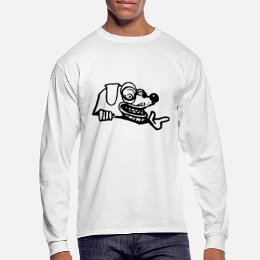 Urban Scary graffiti dog black - Men's Longsleeve Shirt