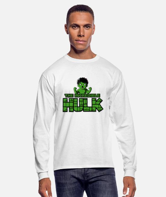 Movie Long-Sleeved Shirts - The Incredible Hulk - Men's Longsleeve Shirt white