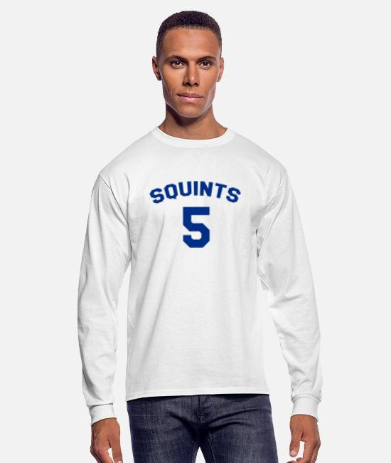 The Sandlot Squints Jersey Long-Sleeved Shirts - The Sandlot - Squints Jersey - Men's Longsleeve Shirt white