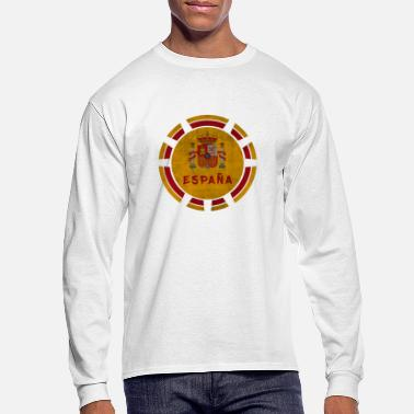 Barcelona Spain Espana Circle with Coat of Arms Vintage Gift - Men's Longsleeve Shirt