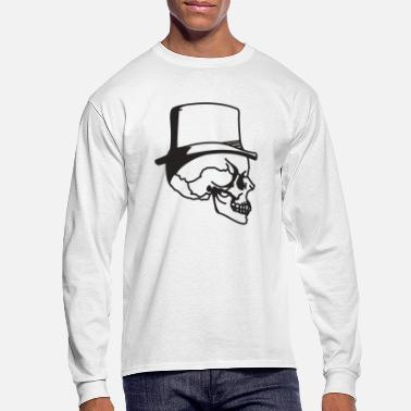 Cylinder Skull with cylinder - Men's Longsleeve Shirt
