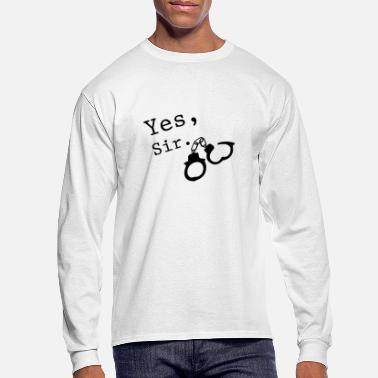 Vanilla Yes Sir BDSM Sadomaso Fetish Submissive Devot - Men's Longsleeve Shirt