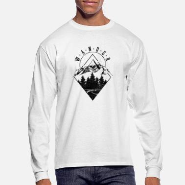 Mountains Hiking Nature Camping Outdoor Gift - Men's Longsleeve Shirt