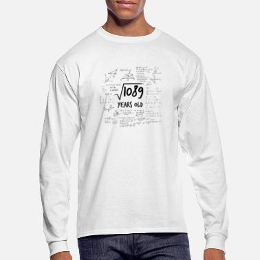 Uni 33rd birthday geek root from 1089 Math Nerd - Men's Longsleeve Shirt