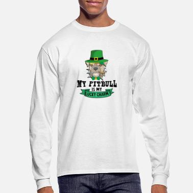 Lucky Charm My Pitbull Is My Lucky Charm - Pitbull St Patrick' - Men's Longsleeve Shirt