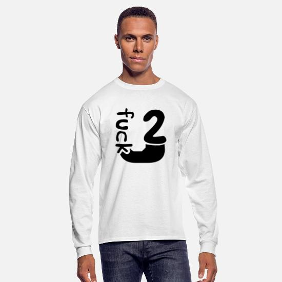 You Long-Sleeve Shirts - Design two 2 number too too cool letter u fuck you - Men's Longsleeve Shirt white