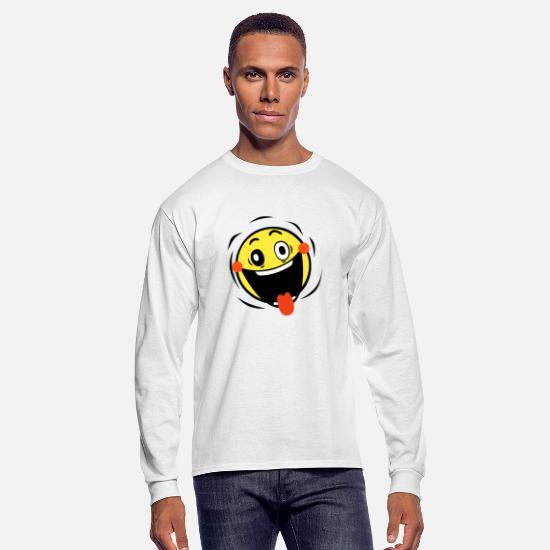 Emoticon Long-Sleeve Shirts - Ludicrous Ecstasy - Men's Longsleeve Shirt white