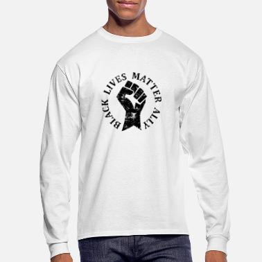Black Lives Matter Ally for Allies to BLM - Men's Longsleeve Shirt