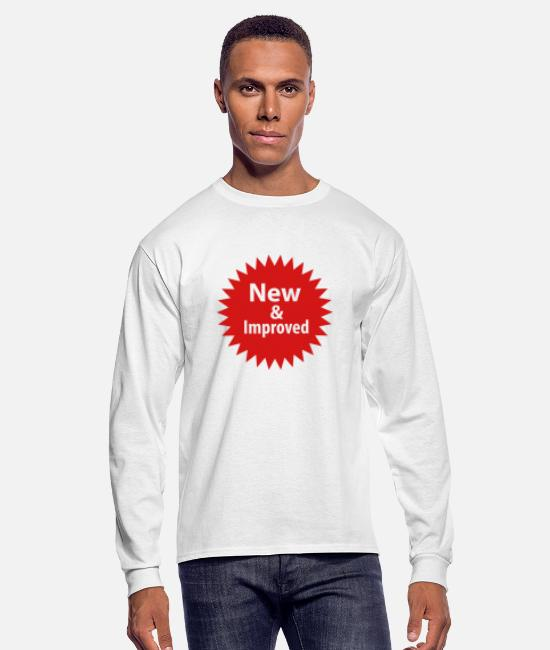 Sticker Long-Sleeved Shirts - new__improved_sticker_shape - Men's Longsleeve Shirt white