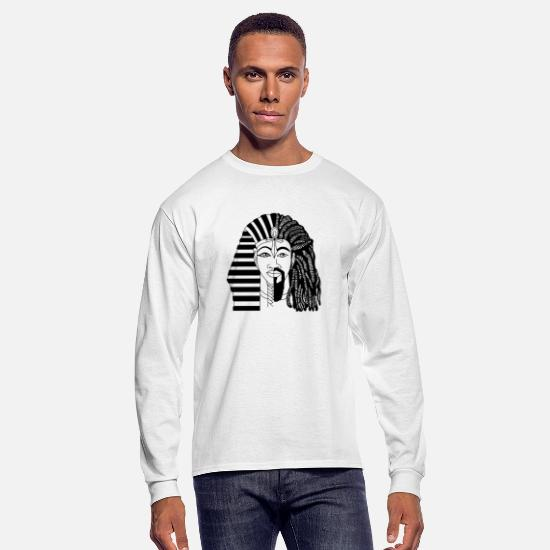 History Long-Sleeve Shirts - African King - BLACK HISTORY PRIDE - Men's Longsleeve Shirt white