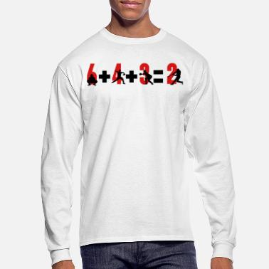 2 Baseball 6+4+3=2 double play - Men's Longsleeve Shirt