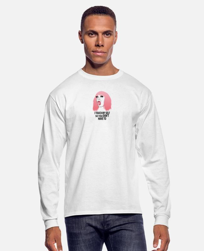 Quote Long-Sleeved Shirts - Katya Zamolodchikova logo - Men's Longsleeve Shirt white