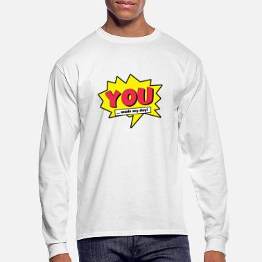 you made my day comic cartoon kids superhero - Men's Longsleeve Shirt
