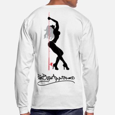Dancer Fishing Pole Dancer Long Sleeve Shirts - Men's Long Sleeve T-Shirt