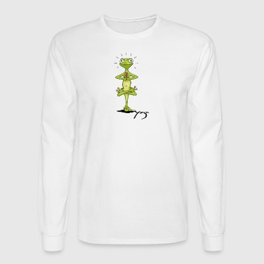Yoga Gecko meditating buddhism zen lizard - Men's Long Sleeve T-Shirt