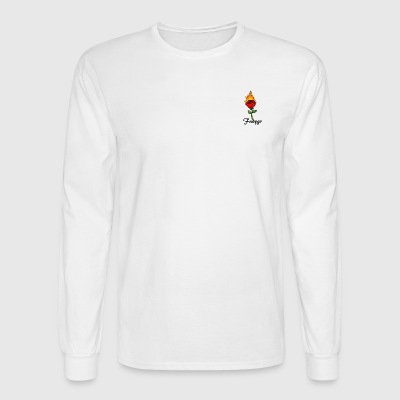 Fuaygo flaming rose logo - Men's Long Sleeve T-Shirt