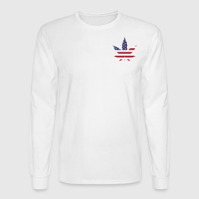 American Leaf - Men's Long Sleeve T-Shirt