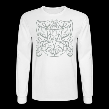 tribal pinstriping - Men's Long Sleeve T-Shirt