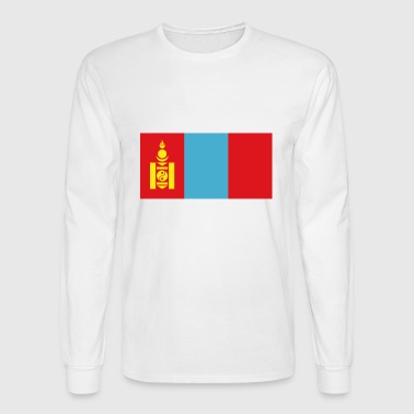 Mongolia country flag love my land patriot - Men's Long Sleeve T-Shirt