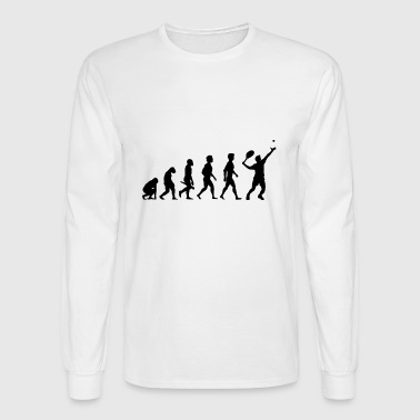Tennis Spieler Tennisspieler Evolution - Men's Long Sleeve T-Shirt