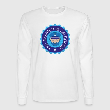 skipper on board - Men's Long Sleeve T-Shirt