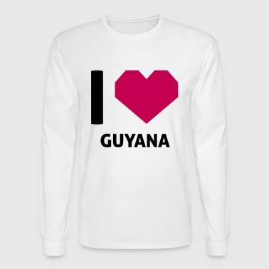 I Love Guyana - Men's Long Sleeve T-Shirt