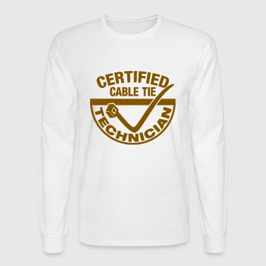 CERTIFIED ZIP TIE TECHNICIAN - Men's Long Sleeve T-Shirt