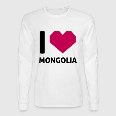 I Love Mongolia - Men's Long Sleeve T-Shirt