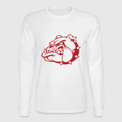 Bulldog trans - Men's Long Sleeve T-Shirt