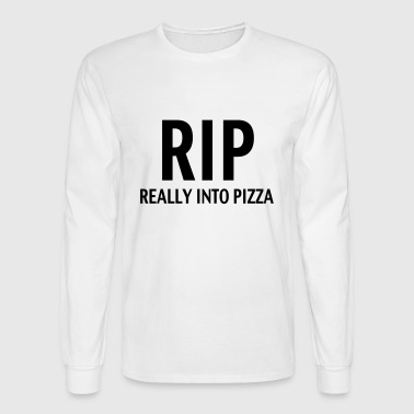 Rip really into pizza - Men's Long Sleeve T-Shirt