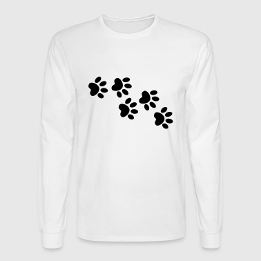 Cute cat pet footprint - Men's Long Sleeve T-Shirt