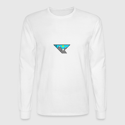 simple mountain illustration - Men's Long Sleeve T-Shirt