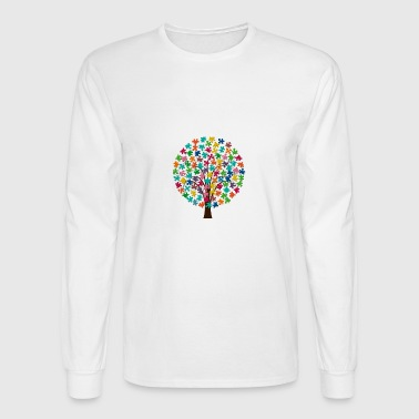 puzzle tree - Men's Long Sleeve T-Shirt