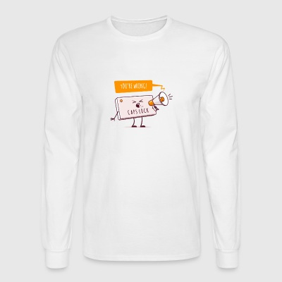Internet Conflict - Men's Long Sleeve T-Shirt