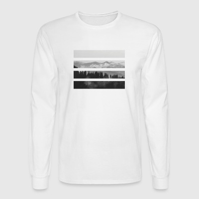 Striped Mountains - Men's Long Sleeve T-Shirt