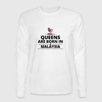 GESCHENK QUEENS LOVE FROM MALAYSIA - Men's Long Sleeve T-Shirt