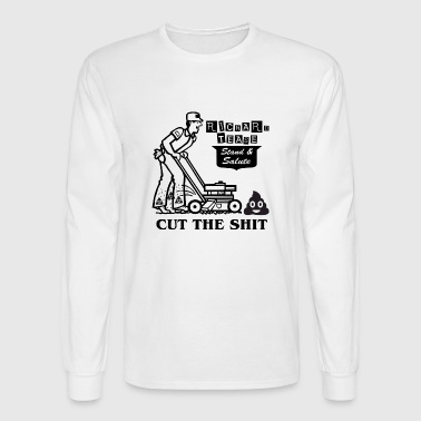 Cut the shit - Men's Long Sleeve T-Shirt