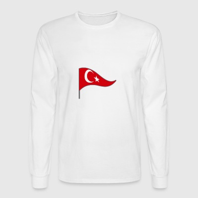 Turkey Flag Banner Flags Ensigns Istanbul - Men's Long Sleeve T-Shirt