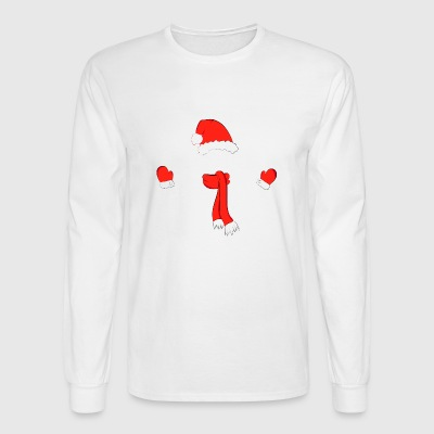 christmas hat scarf - Men's Long Sleeve T-Shirt