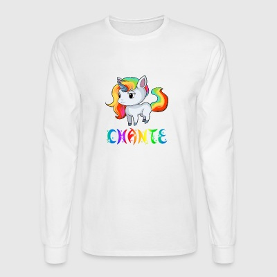Chante Unicorn - Men's Long Sleeve T-Shirt