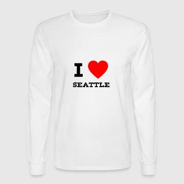 i love Seattle - Men's Long Sleeve T-Shirt