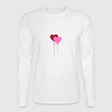 balloons heart shape wedding gift valentines day - Men's Long Sleeve T-Shirt