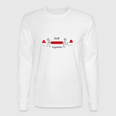 valentine together - Men's Long Sleeve T-Shirt