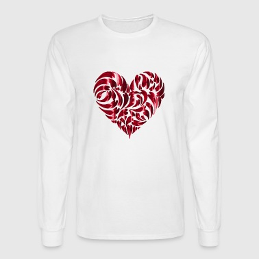 i love you ich liebe dich valentines day heart her - Men's Long Sleeve T-Shirt