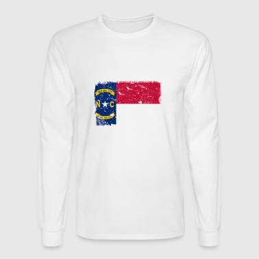 North Carolina Vintage Flag - Men's Long Sleeve T-Shirt